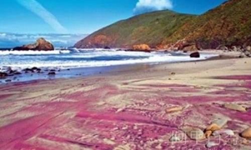 世界上独一无二的紫色沙滩 也是浪漫魅惑的宝石沙滩