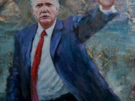 冯振华油画作品《总统之路》–纪念特朗普就职大典