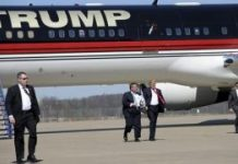 特朗普度假遭骚乱 12架飞机闯禁飞区军机拦截5架