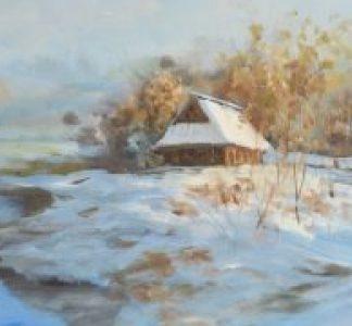 冯振华油画作品《北国之春》系列
